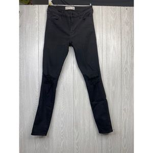Black Distressed Jeans Abercrombie & Fitch